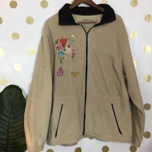 Women's fleece zip up sweater